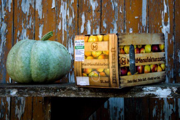 Der fertige Apfelsaft - in praktischem 5l-Karton